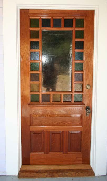 Victorian reproduction exterior door in sapele & Doors
