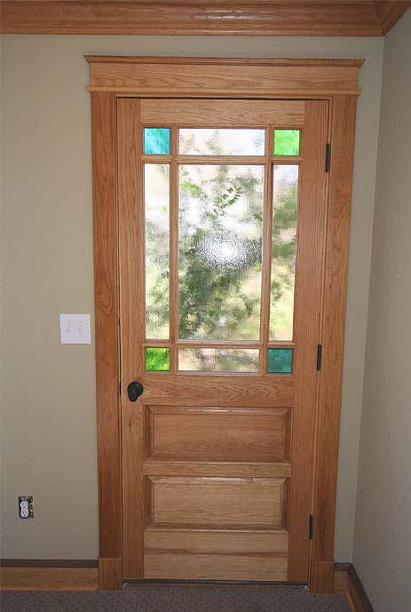 Queen Anne exterior door in hickory & Doors