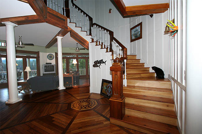 Octagon stair construction interior design ideas for Octagonal house designs