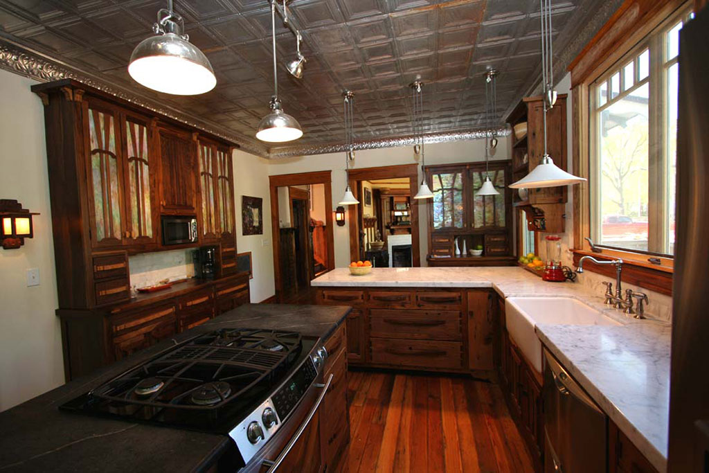 Walnut Oak Custom Kitchen